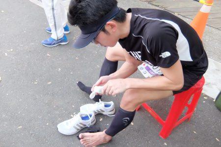 マラソンの足痙り対策
